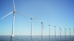 Offshore Wind Turbines (Loop-able) Animation