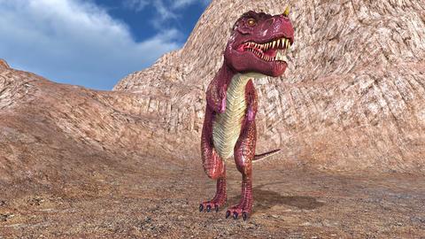 Tyrannosaurus 4K Stock Video Footage