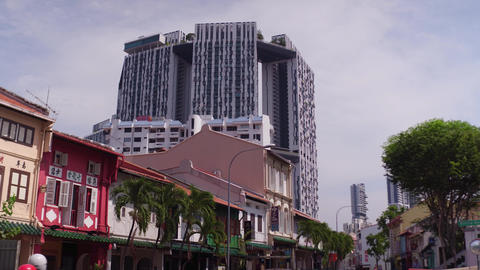 beautiful building in Singapore Footage