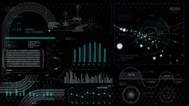 Hud infographics HiTech digital elements v5 Plantilla de After Effects