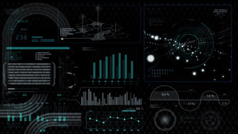 Hud infographics HiTech digital elements v5 After Effectsテンプレート