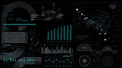 Hud infographics HiTech digital elements v5 - 5