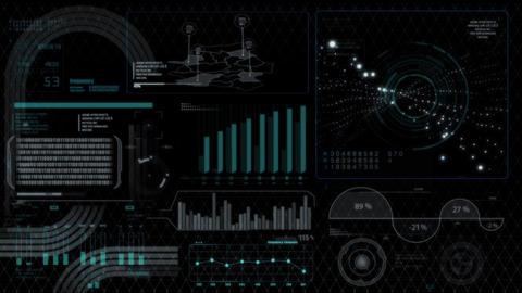 Hud infographics HiTech digital elements v5 - 6