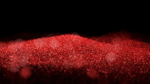 Red Shiny waving moving flowing ripple glitter background abstract seamless VJ loop particles Animation
