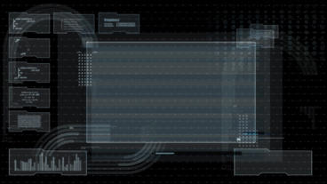 Hud infographics HiTech v6 folder Plantilla de After Effects