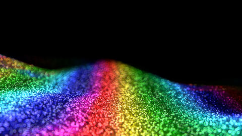Colorful Rainbow Shiny moving glitter background abstract seamless VJ loop particles alpha matte Animation