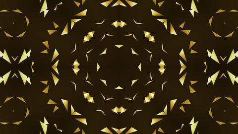 Gold Triangles Kaleidoscope Animation