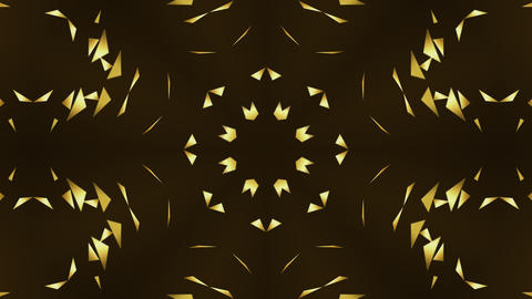 Gold Triangles Kaleidoscope Stock Video Footage
