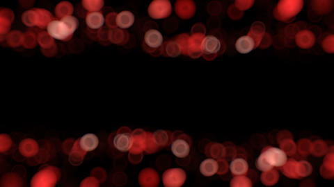 Red High quality animation of blurred abstract Christmas background with bokeh defocused lights. Animation