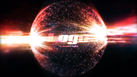Space Explosion Logo Reveal After Effects Template