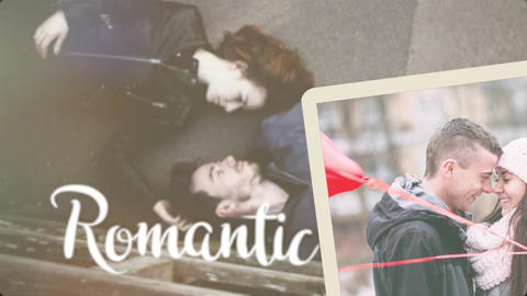 Romantic elegant brush slideshow (AE template) After Effects Template