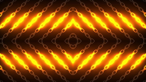 Hot Chain Lights Loop CG動画