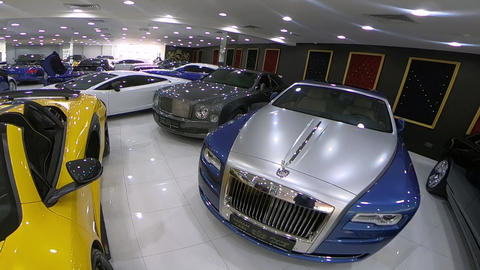 Walking Around luxury cars GIF