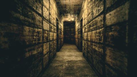 4K Abandoned Horroristic Sanitarium Corridor Cinematic 3D Animation Animation
