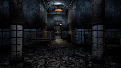 4K Freaky Abandoned Lunatic Asylum Cinematic 3D Animation Animation