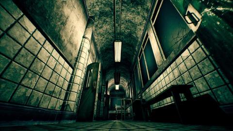 4K Apocalyptic Mental Asylum POV Wide Low Angle Cinematic 3D Animation Animation