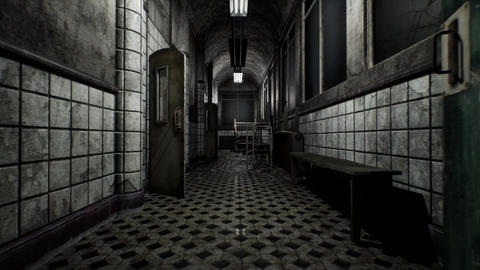 4K Demolsihed Mental Hospital Corridor Cinematic 3D Animation Animation