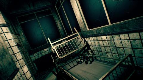 4K Freaky Demolsihed Sanitarium Corridor POV Cinematic 3D Animation Animation