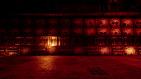 4K Freaky Empty Industrial Room 3D Animation Animation
