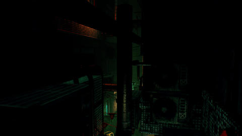 [alt video] 4K Cyberpunk Oriental Backstreet Alley at Night