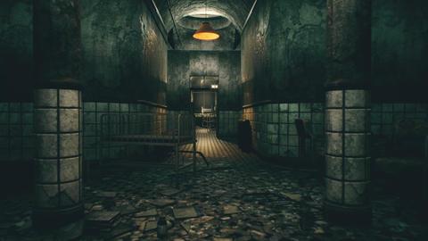 4K Spooky Abandoned Lunatic Asylum Cinematic 3D Animation Animation