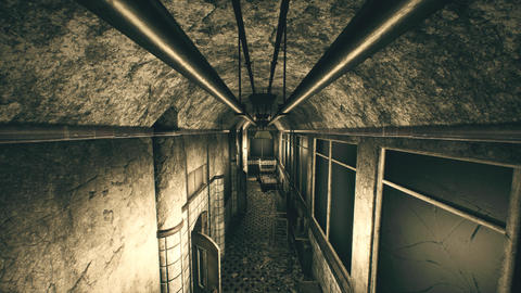 4K Abandoned Sanitarium Perspective Wide Angle Cinematic 3D Animation Animation