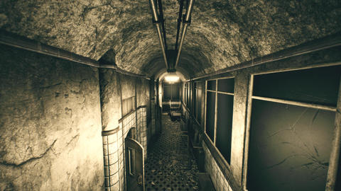 4K Abandoned Sanitarium Perspective Wide Angle Cinematic... Stock Video Footage