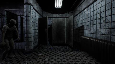 4K Zombie in Mental Hospital Bathroom Cinematic 3D Animation Animation