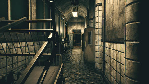 4K Freaky Mental Asylum Corridor Cinematic 3D Animation Animation