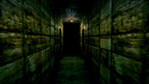 4K Spooky Lunatic Sanitarium Corridor Cinematic 3D Animation, Stock Animation