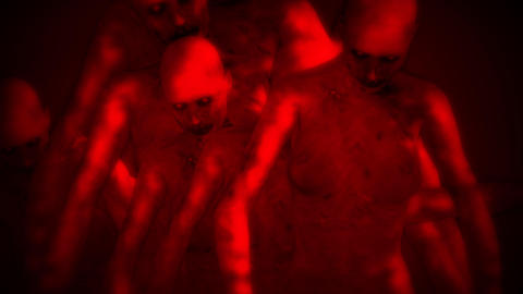 Naked Walking Dead Zombie Women Surrealistic Concept 2 Animation