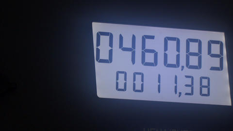 Digital display with changing numbers Live Action