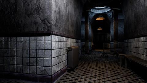 4K Freaky Hospital Corridor Camera Pan 3D Animation Animation