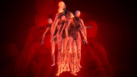 Naked Walking Dead Zombie Women Surrealistic Concept 1 Animation