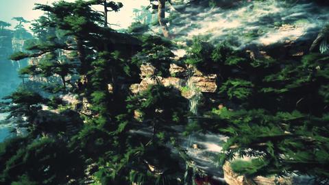 4K Cinematic Fairy Tale Fantasy Oriental Mountains Animation