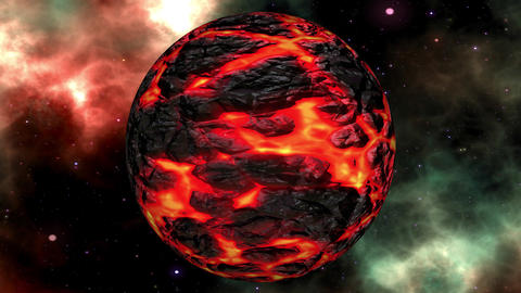 Fantasy Science Fiction Planet in the Universe Seamless Loop Animation