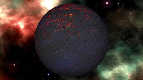 Fantasy Science Fiction Planet in the Universe Seamless Loop Stock Video Footage