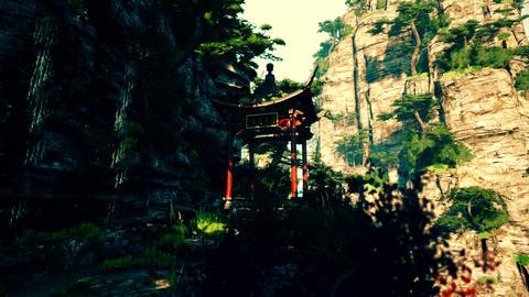 4K Cinematic Fairy Tale Fantasy Oriental Mountains, Stock Animation