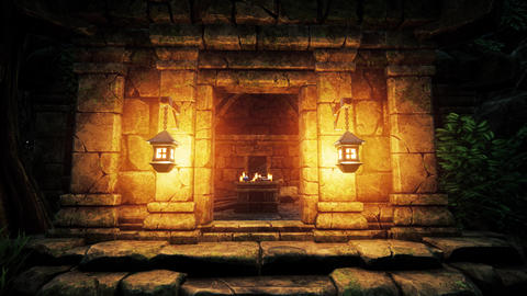 4K Mysterious Fantasy House of Wizard 3D Animation Animation