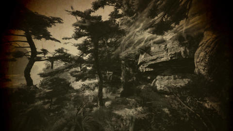 4K Cinematic Fairy Tale Fantasy Oriental Mountains Vintage Animation