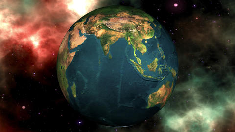 Earth Global Warming ConceptTransformation to a Global Warming Illustration Map Animation