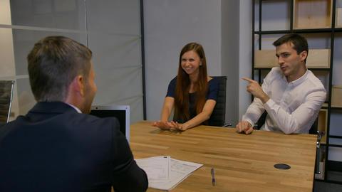 Businesspeople meeting in office boardroom Footage