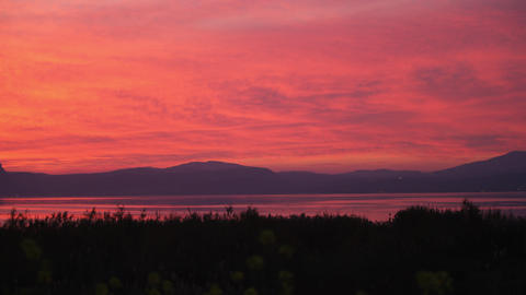 Royalty Free Stock Video Footage of the sunset at the Sea of Galilee shot in Isr Footage