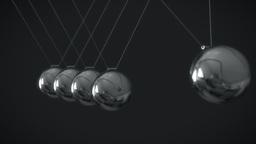 Newton's Cradle - Pendulum - Impact Animation