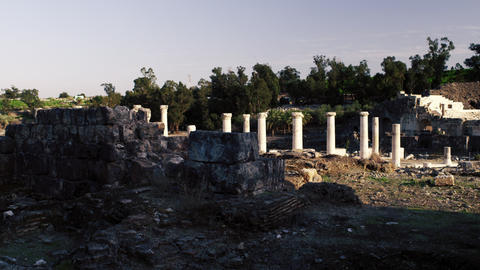 Royalty Free Stock Video Footage of the ancient city Beit She'an shot in Israel  Footage