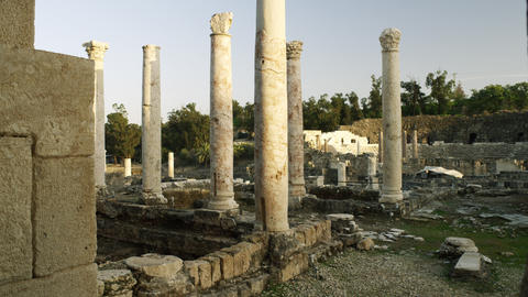 Royalty Free Stock Video Footage of Beit She'an columns shot in Israel at 4k wit Footage