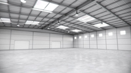 Empty Warehouse Tour stock footage