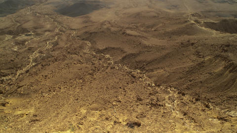 Royalty Free Stock Video Footage of Ramon crater floor shot in Israel at 4k with Footage