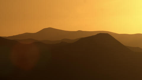 Royalty Free Stock Video Footage of silhouetted mountains at sunset shot in Isra Footage