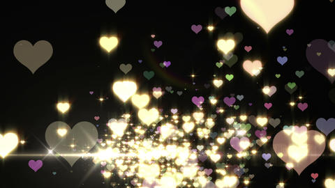 Lens Flares and Particles 16 heart S2f 4k Animation